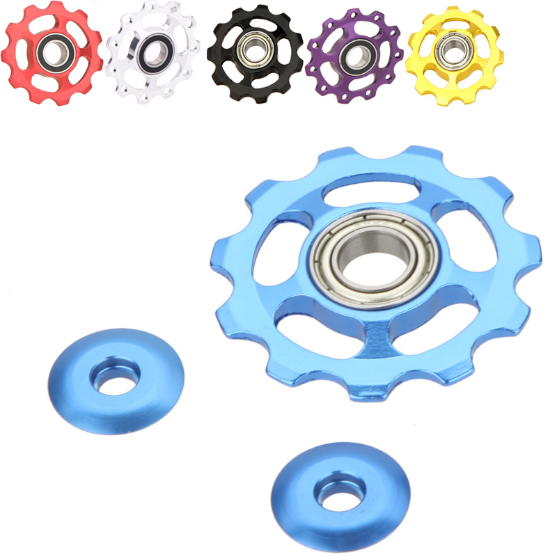 11T Aluminum Alloy Bicycle Rear Derailleur Jockey Wheel Road MTB Bike Guide Roller Idler Pulley Part Cycling Bike Accessories(China (Mainland))