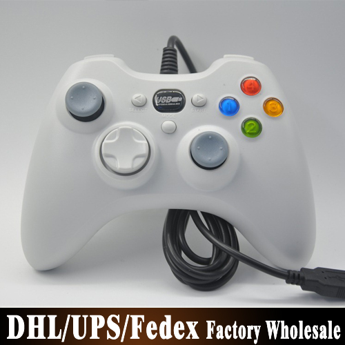 (wholesale) 100pcs/lot Wired Game Controller Joystick Gamepad Looks Like a Xbox 360 Controllers for PC Computer Laptop(China (Mainland))