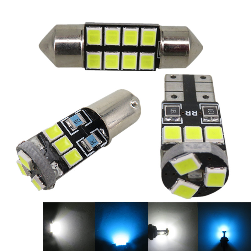 7x Map Dome Trunk Door Light 2835 SMD Led T10 W5W Car Led Interior Light Package for Nissan Altima 2002 2003 2004 2005 2006(China (Mainland))