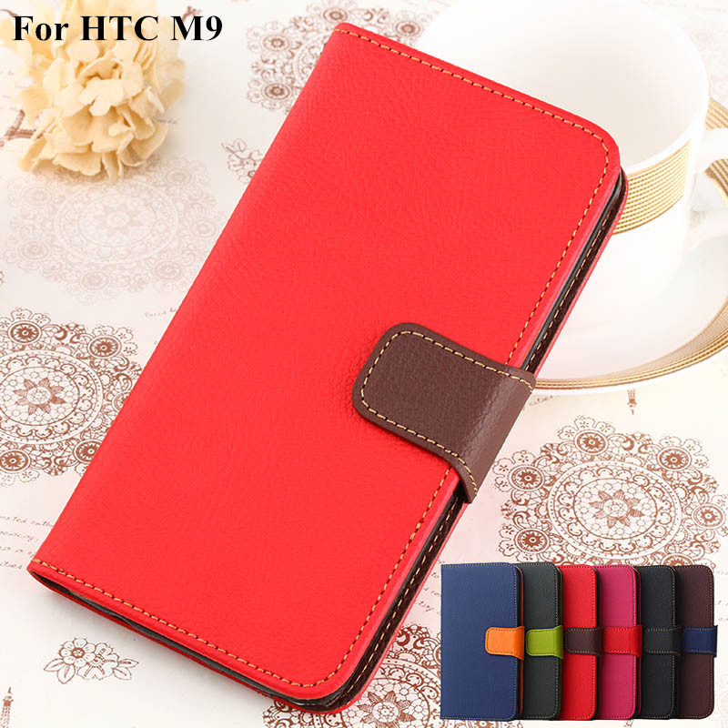 M9 Luxury Wallet PU Leather Case For HTC One M9 Coque Retro Flip with Stand Mobie Phone Bag For HTC M9(China (Mainland))