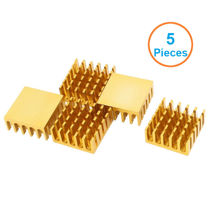 5pcs/lot Aluminum Heatsink 22x22x10mm Electronic Chip Cooling Radiator Cooler for Router, IC MOSFET SCR,1W LED Heat Dissipation(China (Mainland))