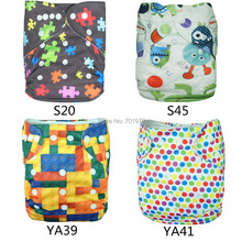 (10 pieces/lot) ALVA Free Shipping 2014 Double Row Snaps Cloth Diapers with Microfiber Inserts(China (Mainland))