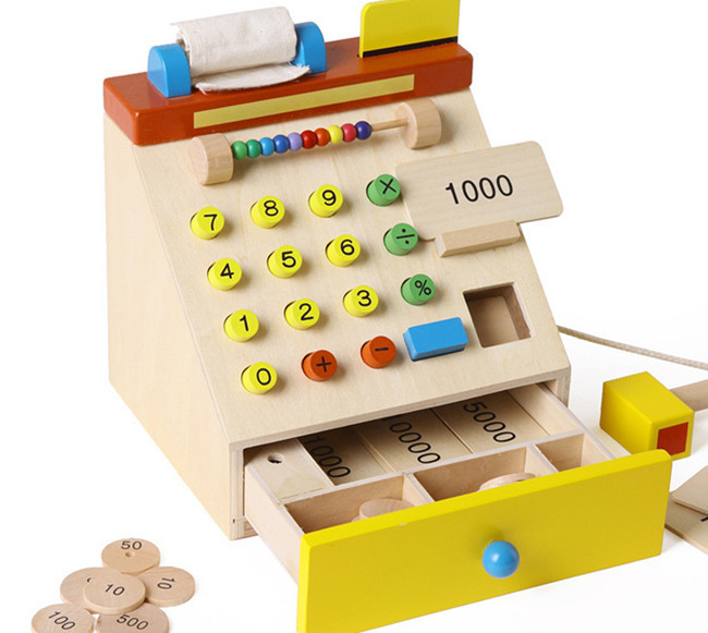New wooden toy Simulation cash register Baby toy Free shipping<br><br>Aliexpress