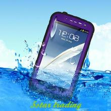 Hot Sale Durable Slim Luxury Waterproof Shockproof DirtProof Cell Phone Case Protective Cover For Samsung Galaxy Note 2 N7100(China (Mainland))