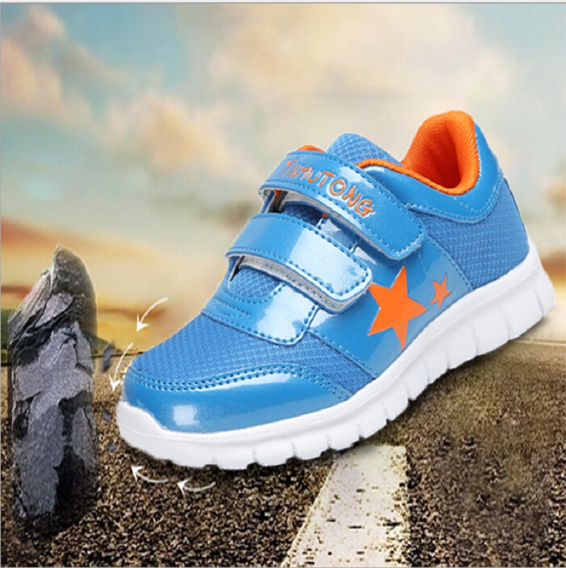 2016 EU Size 26-36 Breathable Air Mesh Children's Shoes For Boys And Girls Running Shoes Sports Basketball Shoes Kids Sneakers(China (Mainland))