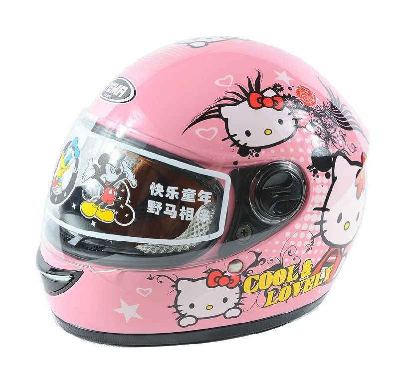 Free shipping!Kids full face helmet,Spider Man hello kitty SpongeBob motorcycle helmet,safe Approved,Children Birthday gifts toy(China (Mainland))
