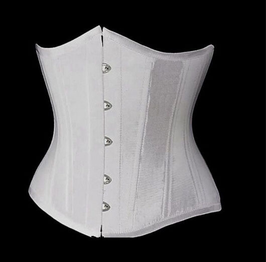White Underbust Corset Gothic Basque Lace up Boned waist training bustier S-2XL(China (Mainland))