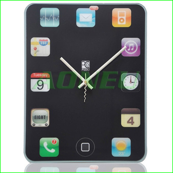 Free shipping Hot selling! Wall clock Ipad shape tablet screen clock Home decorations DIY decorative clock with retail package