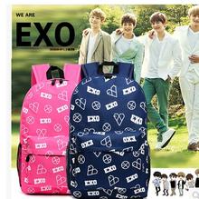 EXO Bag 2015 New Casual Canvas Shoulder Bag EXO Backpack Schoolbag Korean Version Men And Women Leisure EXO Travel Bag