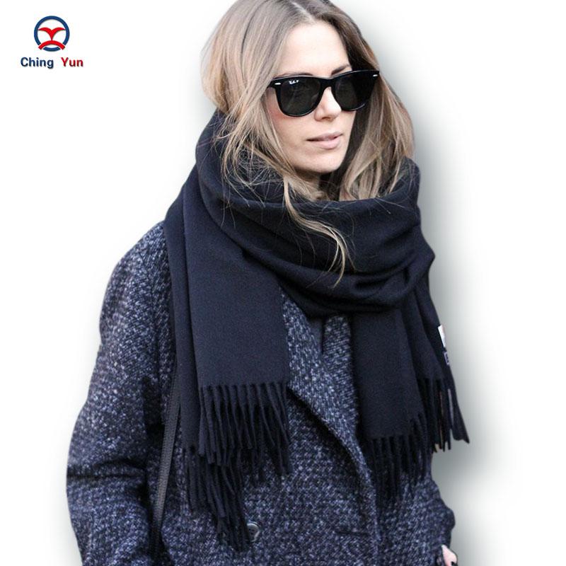 2016 Autumn Winter New Fashion women European Scarf rectangle solid color Brand shawls Female Scarfs women scarves ladies wraps(China (Mainland))
