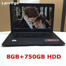 2016 NEW 8GB RAM +750GB HDD 14 inch win7/win8.1 Laptop computer PC In-tel Celeron JI9002.0GHZ Quad(China (Mainland))