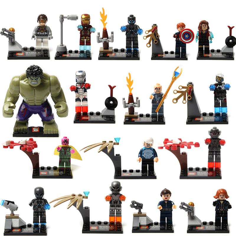 SY Block Toys Marvel Avengers Miniature 1Action Figure Iran Man America Anime Plastic Model Building Brick Kids Toy