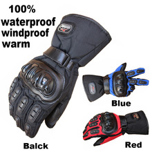 Buy MAD-BIKE thickening waterproof motorcycle gloves winter keep warm outdoor automoble gloves electric bicycle long design gloves for $19.00 in AliExpress store