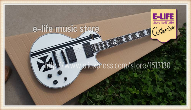 China Musical Instrument ESP / LTD EC 1000M Guitar Eclipse Electric Guitar Black Iron Cross In Stock For Shipping(China (Mainland))