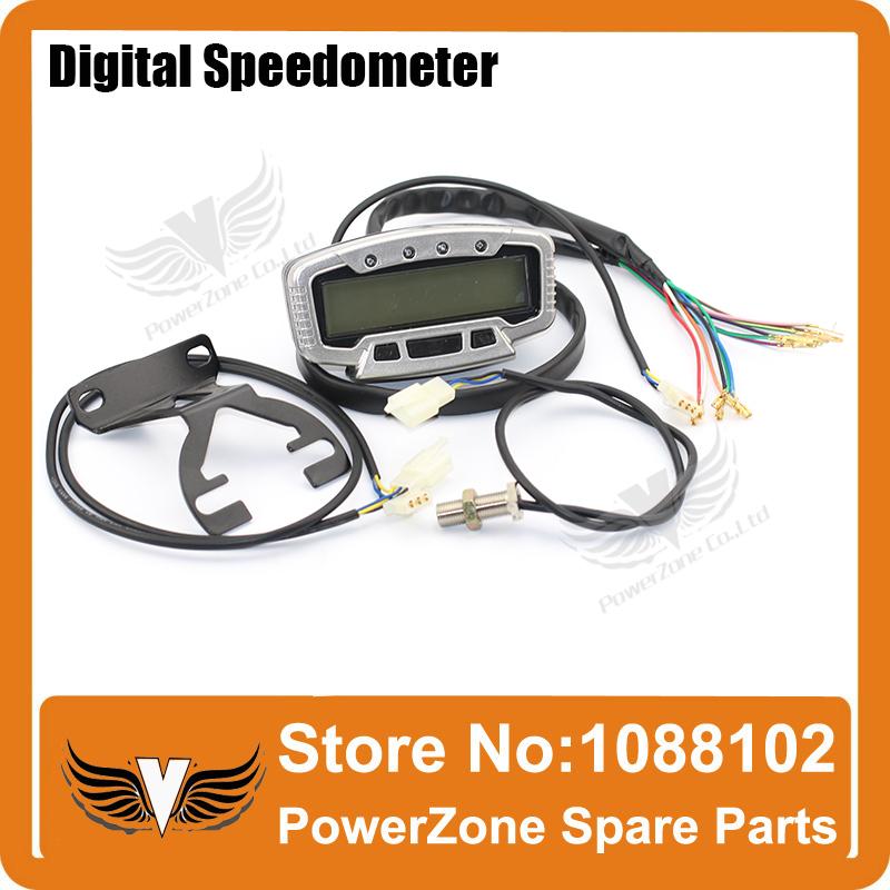Motorcycle Digital Speedometer Odometer Dashboard speedo meter motorcycle speed sensor Universal ATV DIRT BIKE PARTS