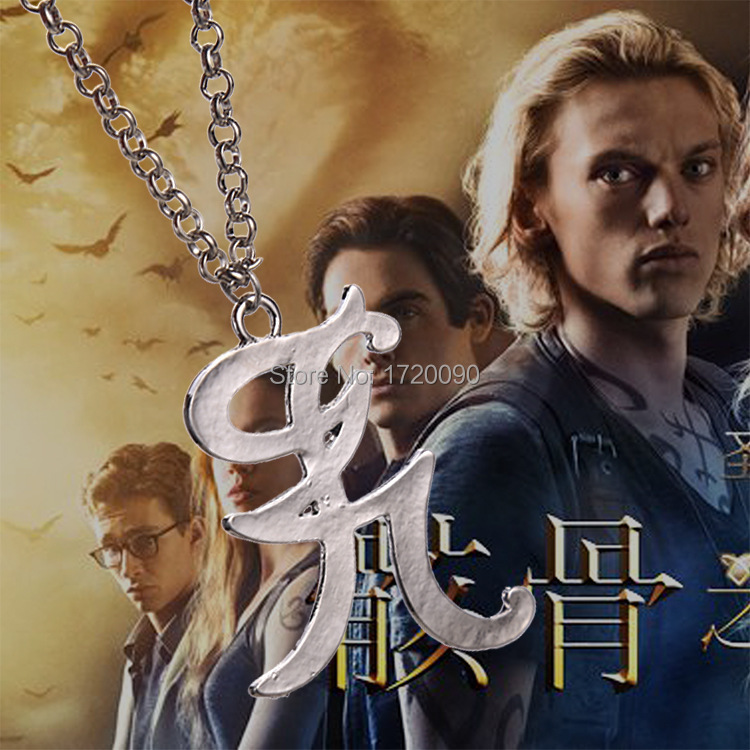 12PCS Wholesale The Mortal Instruments City of Bones Necklace Fashion Movie/Film/Games Jewelry Free shipping Promotion(China (Mainland))