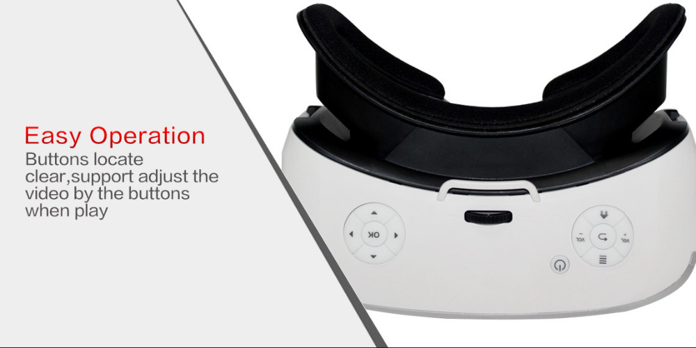 All-in-One 3D VR Virtual Reality Glasses Android 4.4 Allwinner H8 Quad Core 2G 16G Support WIFI Bluetooth OTG TF Card VR Headset