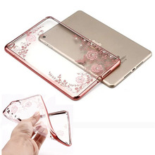 10pcs/lot Ultra Thin Butterfly Flower Clear Crystal Rubber Plating Electroplating TPU Case For iPad Mini 1 2 3 For iPad Mini 4(Hong Kong)
