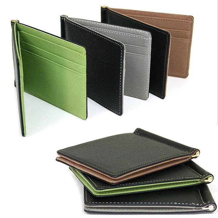 Гаджет  New Arrival Men Magic Skin Wallets Fashion Leather Money Clips Sollid Thin Wallet Card Holder Purse Travel Case None Камера и Сумки