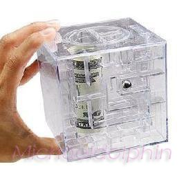 Brand New Money Maze Coin Box Puzzle Game Gift Prize Box, Free Shipping!(China (Mainland))