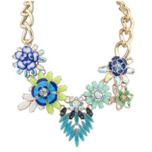 Star Jewelry New Choker Fashion Necklaces For Women 2014 Statement Luxury Temperament  Flower Pendant Necklace YW-21