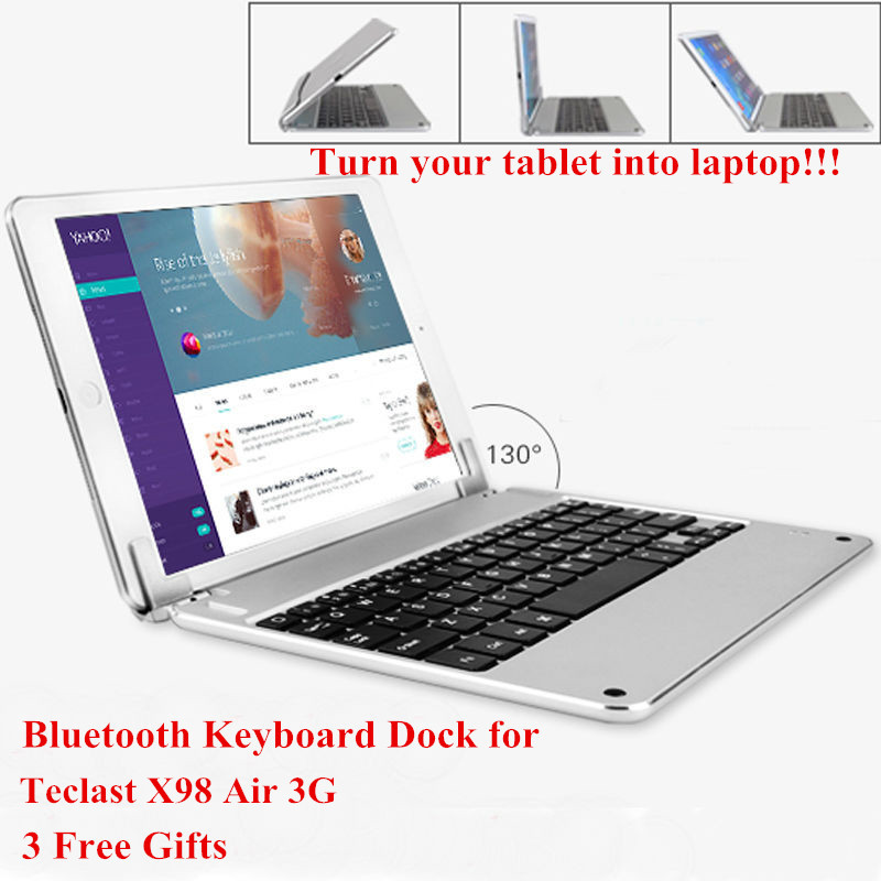 Russian/Spanish/Hebrew Keyboard for Teclast X98 Air 3G 9.7 inch Tablet Wireless Bluetooth Keyboard Dock 3 Free Gifts(China (Mainland))