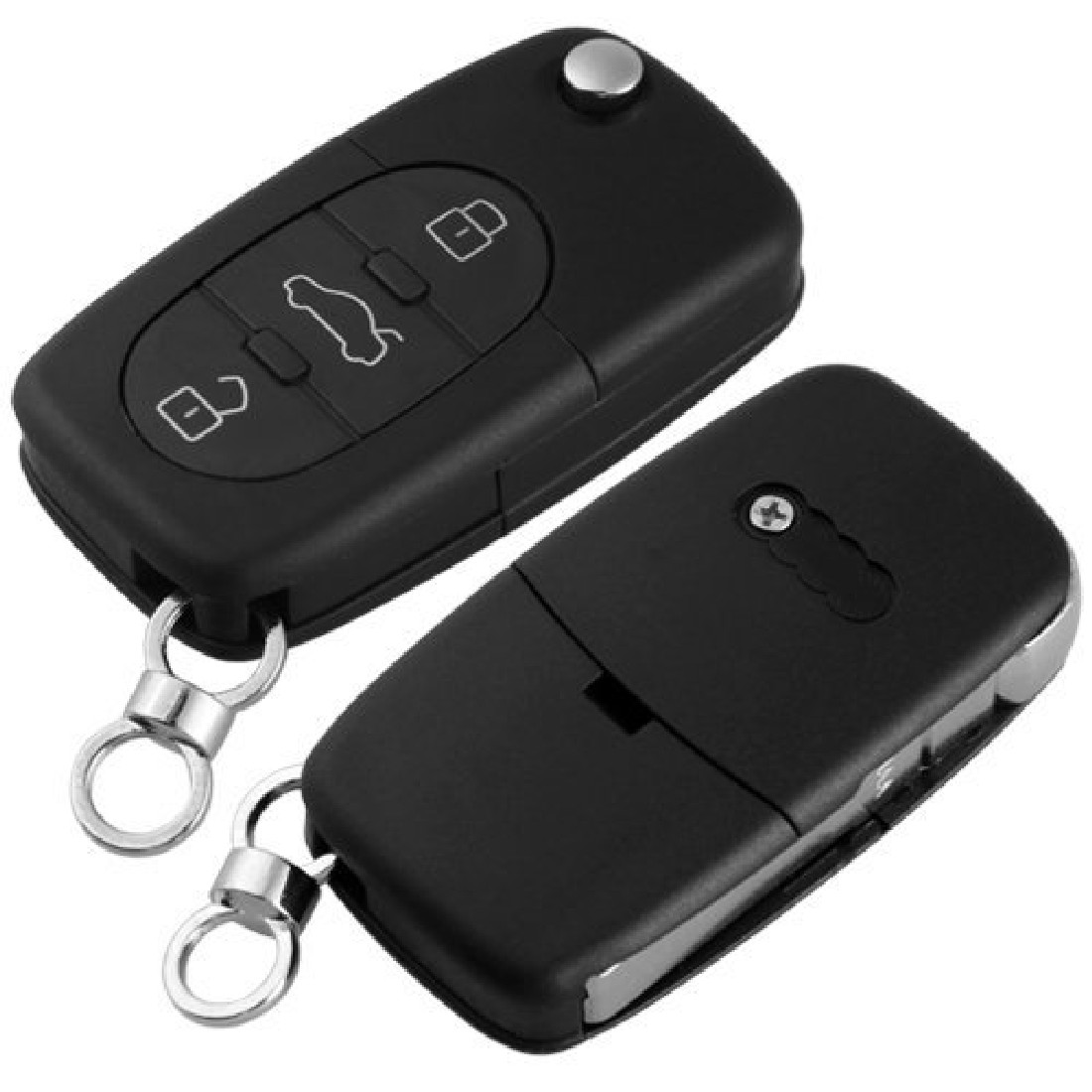 2015 High Quality Black Replacement Remote Key Case Fob 3 Buttons Uncut Blade for AUDI A2 A3 A4 ...