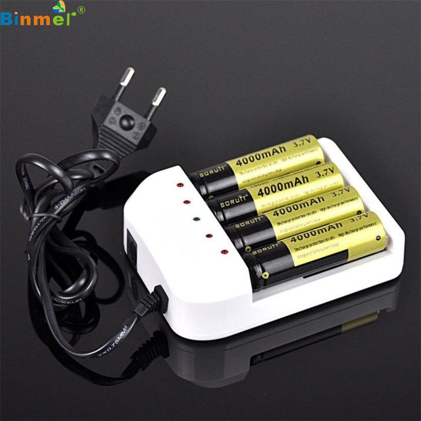 Best Price ! 4 Output Universal i4 Intelligent Li-ion/NiMH 18650/26650/AA/AAA Battery Charger TOP quality DEC20(China (Mainland))