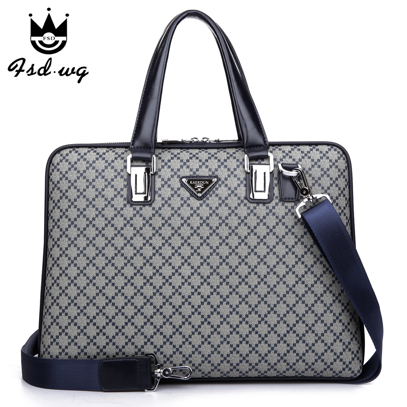 2015 brand designer handbags Large capacity PVC man bag High quality men's briefcase Blue handbag Shopping gift card bag(China (Mainland))