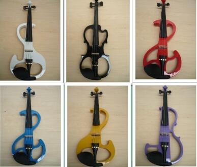 Free Shipping High quality 9 styles White violin Electric Violin 4/4 violin wood Mahogany material 7 colors violino eletrico<br><br>Aliexpress