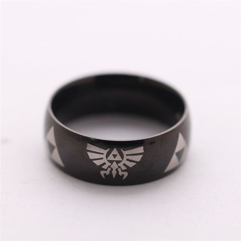 LEGEND Of ZELDA Ring Shiny Black Men'S Tungsten Carbide Wedding Ring For Men Woman High Quality Drop Shipping(China (Mainland))