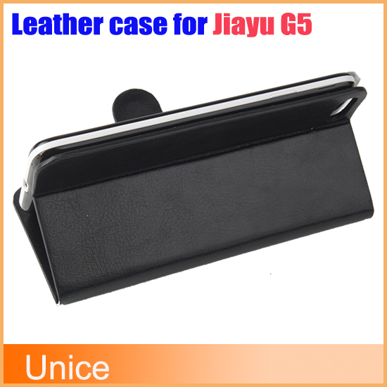 1PCS,2014 New Luxury Flip Genuine / Real Leather Case Cover 4.7'' Jiayu G5 Original Mobile Phone Bag,Black White