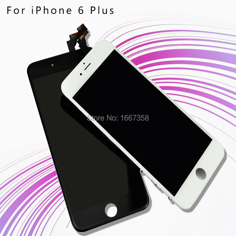 10 PCS/LOT 5.5 Inch LCD For Apple iPhone 6 Plus LCD Screen With Original Touch Screen Digitizer Assembly Free DHL Ship