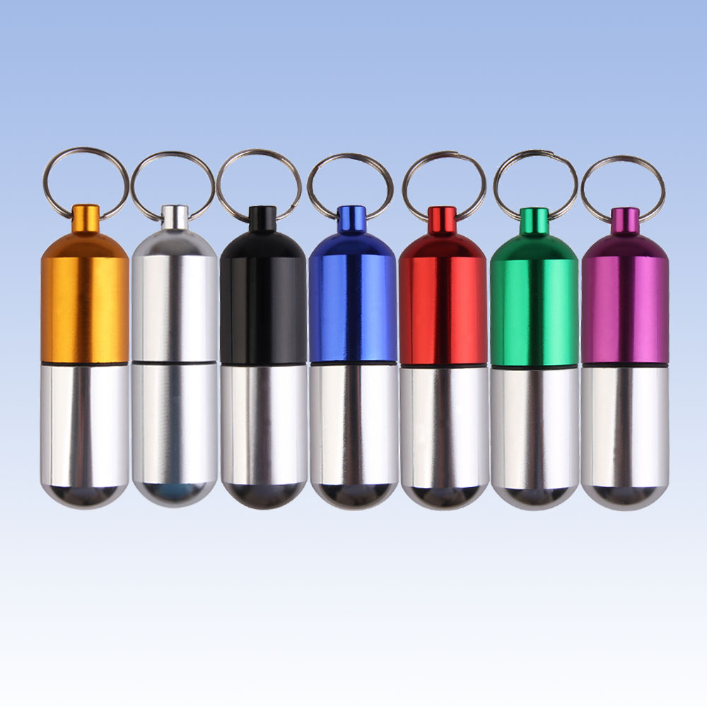 Aluminum Pill Case Bottle Large Size Pill Drug Container Keychain  Medicine Box Holder Outdoor Cartridge Waterproof Health Care<br><br>Aliexpress