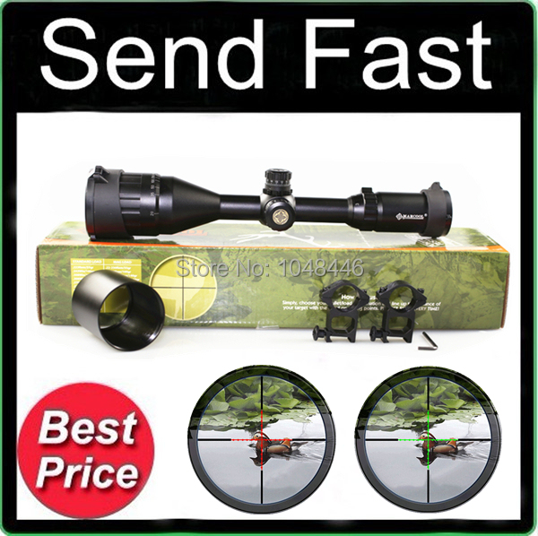 Фотография Marcool 3-9X50 AOME R&G Illuminated Rifle Scope for Airsoft Sports and Outdoor Hunting +  free mounts 20mm