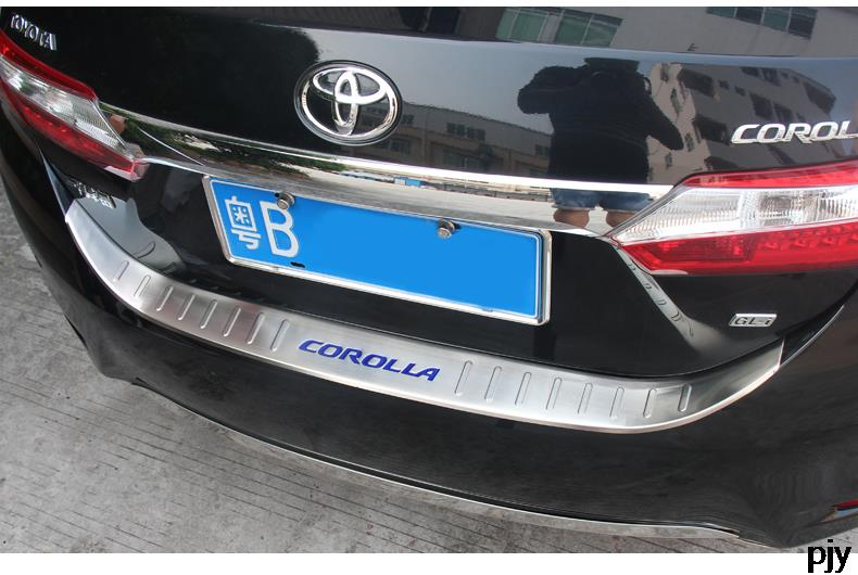 2014 2015 Toyota Corolla Rear Trunk Bumper Protector Full Cover Guard Plate TRIM