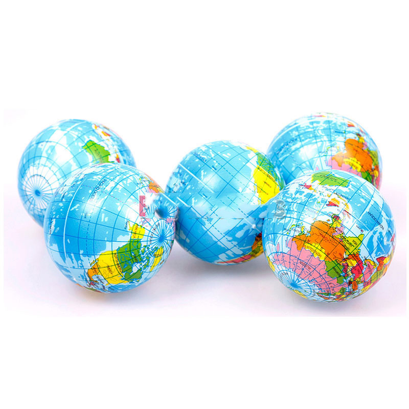 MiniFocus Special! World Atlas Geography Map Earth Globe Stress Relief Bouncy Foam Ball Kids Toy Rising stars(China (Mainland))