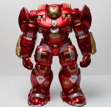 Gold-plated Avengers 2 Iron Man Hulkbuster Armor Joints Movable Mark PVC Action Figure Collection Model Toy