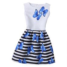 2019 новые платья для девочек, vestidos, праздничное платье принцессы для подростков, летнее платье с бабочками, Детский костюм, детская одежда(China)