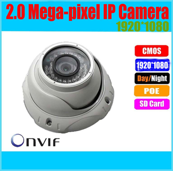 Wholesale CMOS 1080P Network IP Camera 1920*1080 ONVIF Network IP Camera 30m IR distance POE 5mp ip camera
