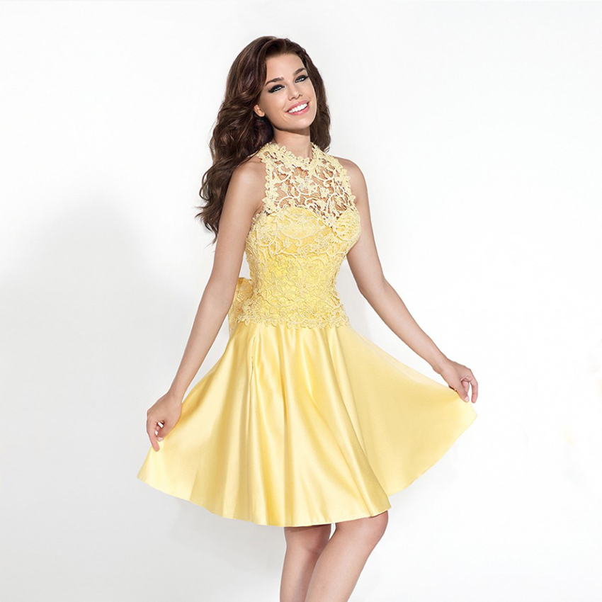 Pastel Yellow Prom Dresses - Holiday Dresses