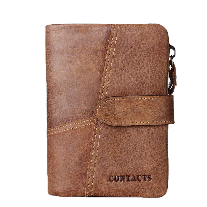 Hot Classical European and American Style Men Wallets Genuine Leather Wallet Fashion Zipper Brand Purse Card
