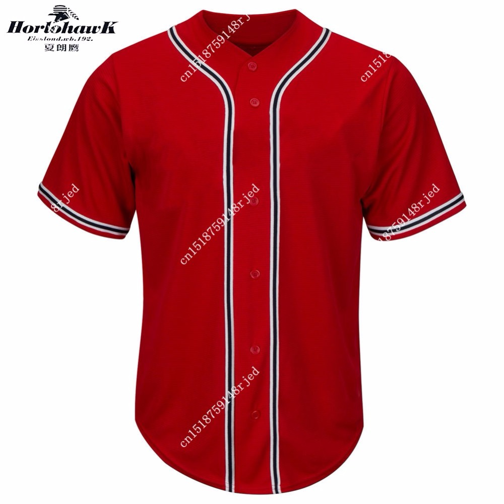 Youth Custom jersey Horlohawk kids Atlanta Baseball Jersey color red all name and number Stitched(China (Mainland))
