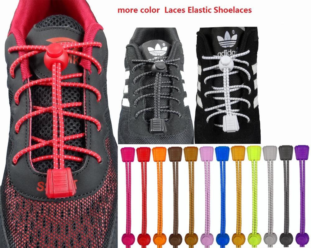 2016 fashion Locking Shoe Laces Elastic Shoelace for Shoestrings Running/Jogging/Triathlon/Sports Fitness(China (Mainland))