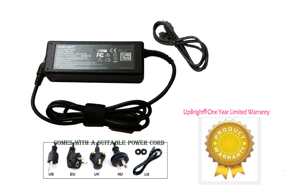 UpBright NEW AC / DC Adapter For Samsung SyncMaster S23B550 S23B550V S22B300B S22B310B LED LCD Power Supply Cord Cable Charger(China (Mainland))