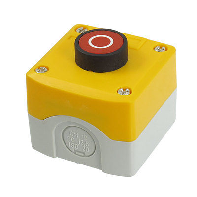 SPST NC Circuit Control Momentary Circle Red Flat Pushbutton Switch 240V 3A<br><br>Aliexpress
