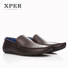Buy XPER Brand NEW Fashion Men Flats Shoes Hand Made Breathable Slip-on Mocassins Men Loafers Brown Big Size CE86813BU for $20.47 in AliExpress store