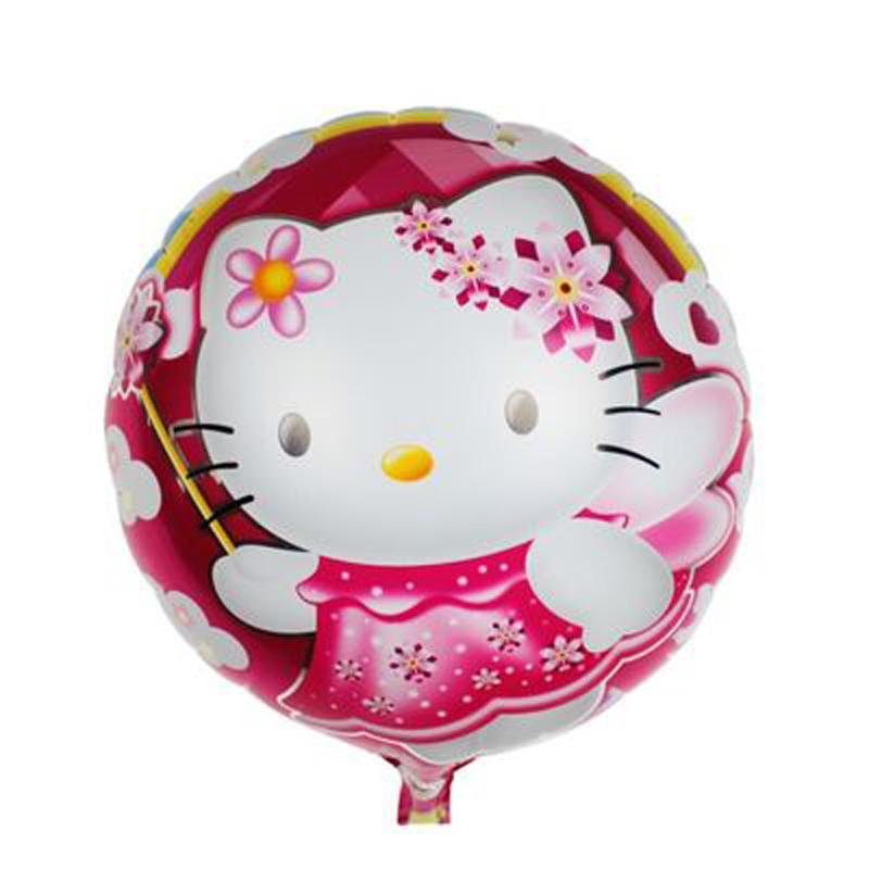 18 inch balonlar palloncini luftballons air balloons foil wedding decoration cartoon hello kitty cat birthday party balloons(China (Mainland))