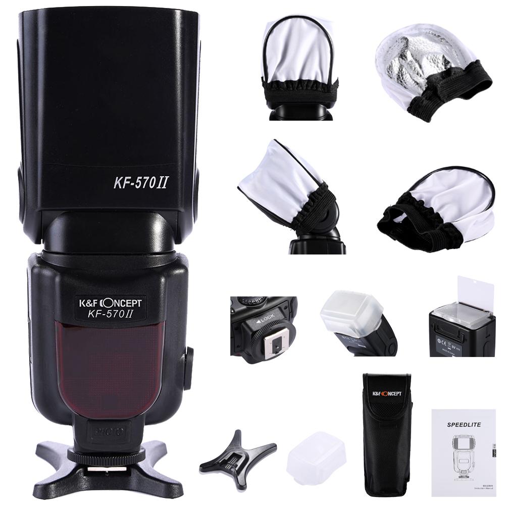 KF-570 II High Speed Flash Light Speedlite For Canon 6D 5D2 5D3 700D 650D, KF-570 for Nikon D750 D800 D610 AS Yongnuo YN-560<br><br>Aliexpress