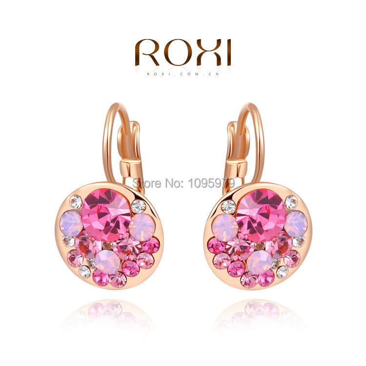 Brand New ROXI Womenselegance Earrings Rose Gold Plated Genuine AAA Class Austrian Crystal Fashion Stud Best Gift - POP Online Store store